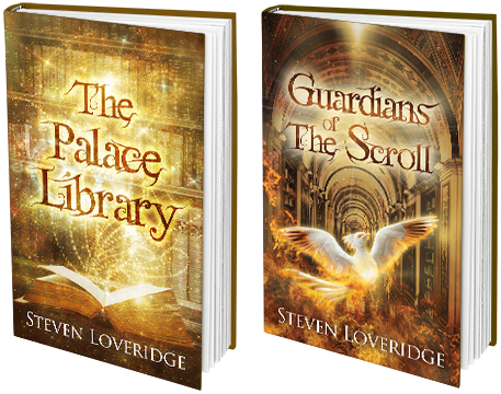 Pictures of The Palace Library and Guardians of The Scroll covers